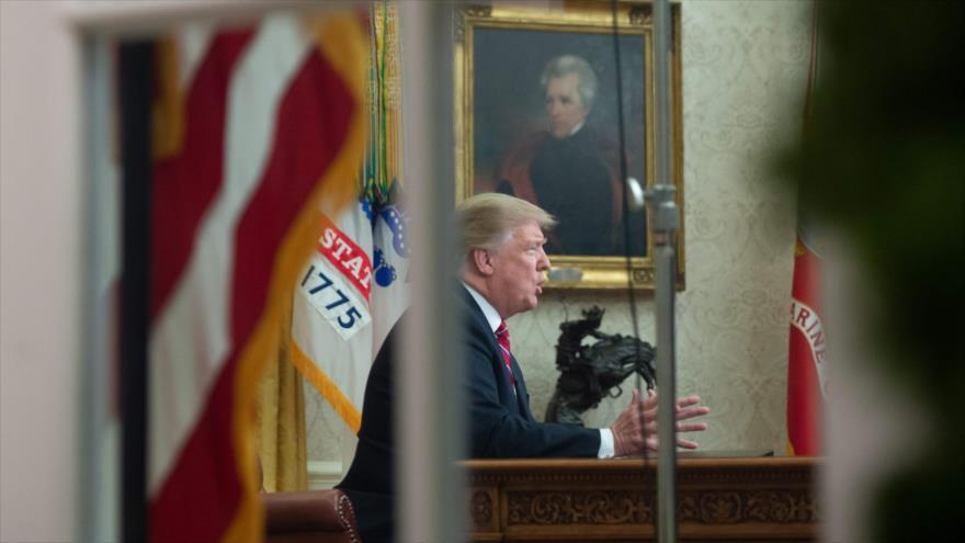 El presidente de EE.UU., Donald Trump, habla desde la Casa Blanca a la nación, Washington, 8 de enero de 2019. (Foto: AFP)