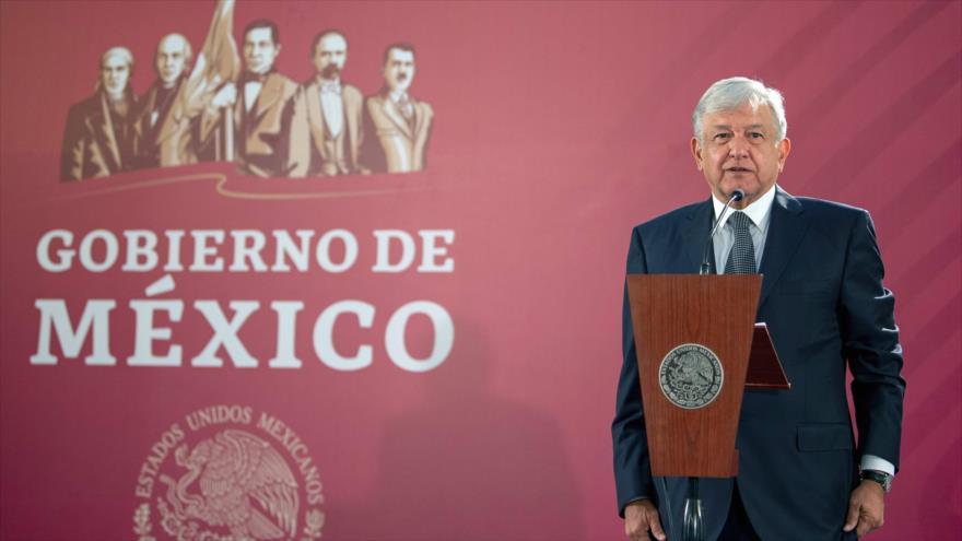 El presidente de México, Andrés Manuel López Obrador (AMLO), durante un acto en la Ciudad de México, 3 de diciembre de 2018. (Foto: AFP)