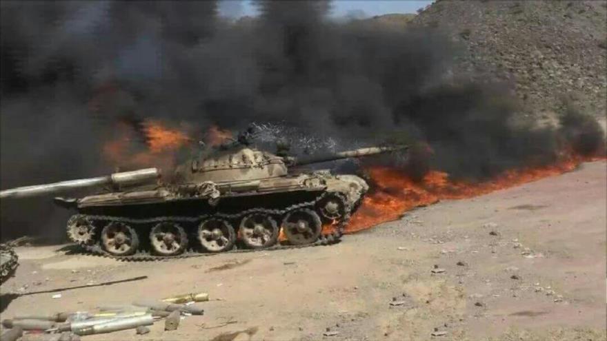 Vídeo: Combatientes yemeníes destruyen tanque saudí 'made in USA'