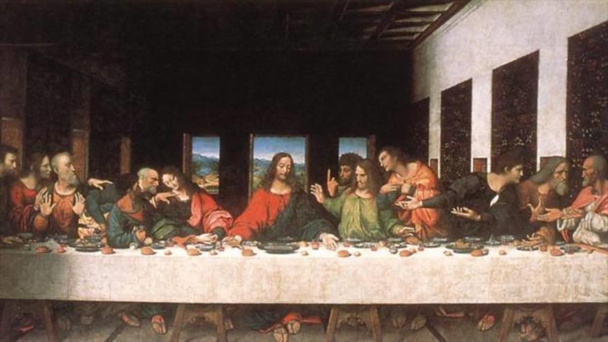 """""""La última cena"""" es la obra maestra de Leonardo da Vinci."""