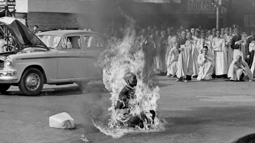 Fotos que sacuden al mundo: El Buda Ardiente