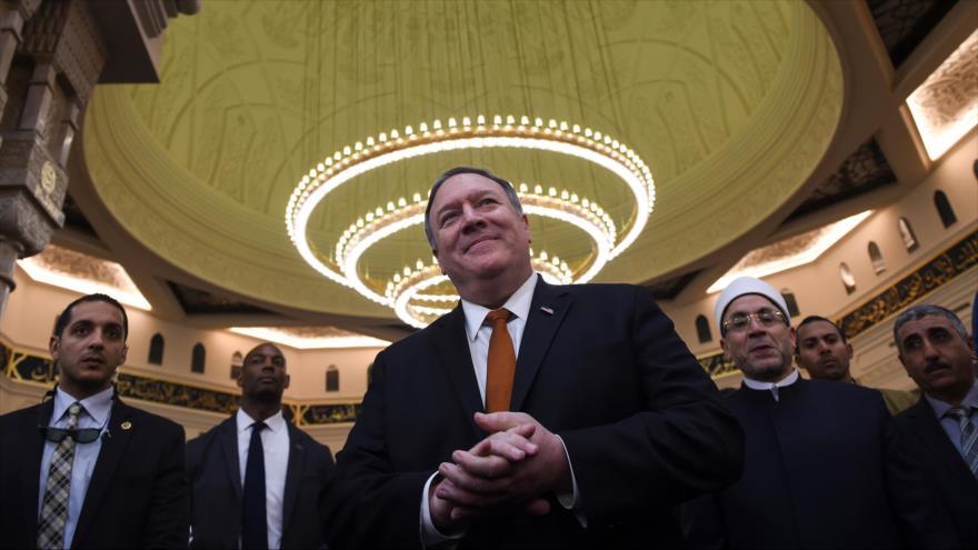 El secretario de Estado de EE.UU., Mike Pompeo, en Egipto, 10 de enero de 2019. (Foto: AFP)