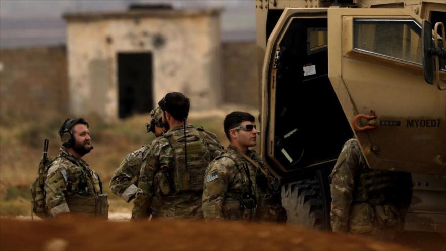 Soldados estadounidenses desplegados en el territorio sirio.