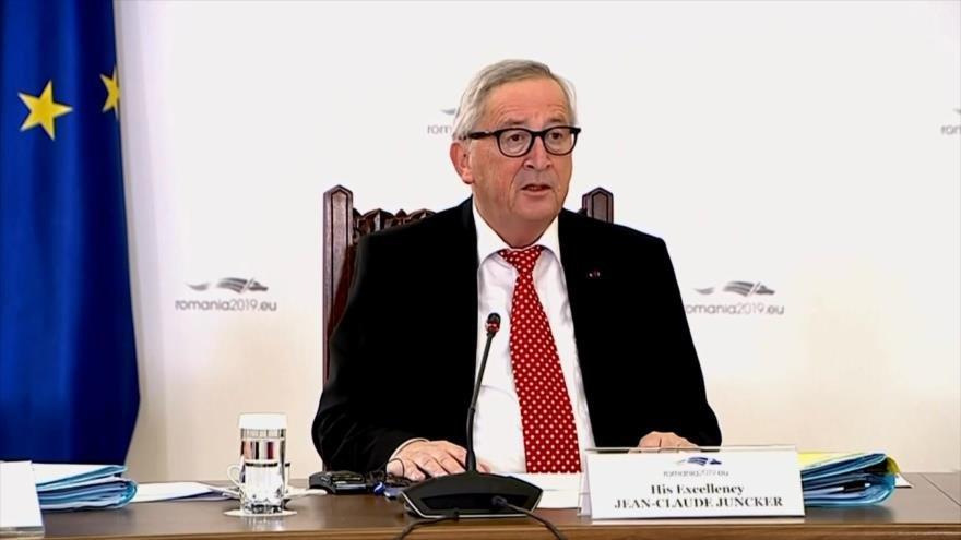 Juncker: Reino Unido se irá de la UE a finales de marzo de 2019