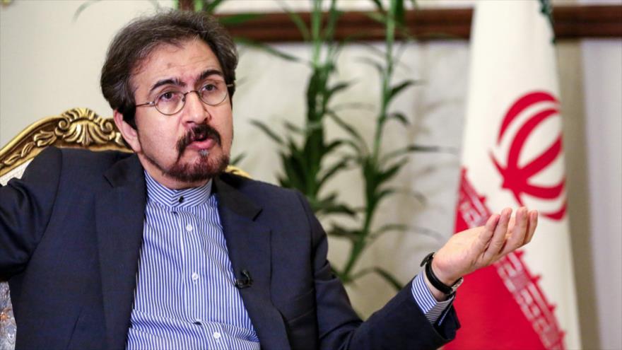 El portavoz de la Cancillería de Irán, Bahram Qasemi, 2 de octubre de 2018. (Fuente: AFP).