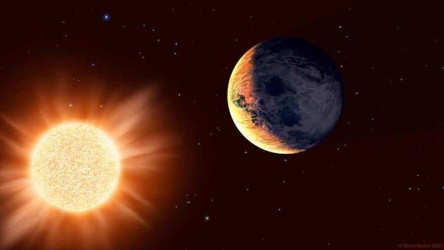 Imagen ilustrativa de una planeta que orbita la estrella de Barnard.