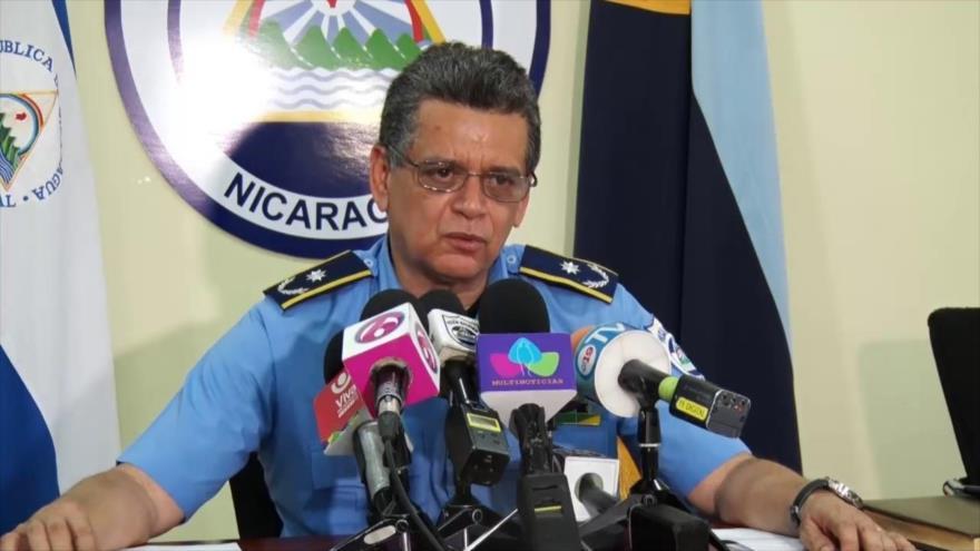 El jefe de la Policía de Nicaragua, Francisco Díaz.