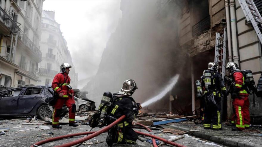 Se registra una fuerte explosión en el centro de París