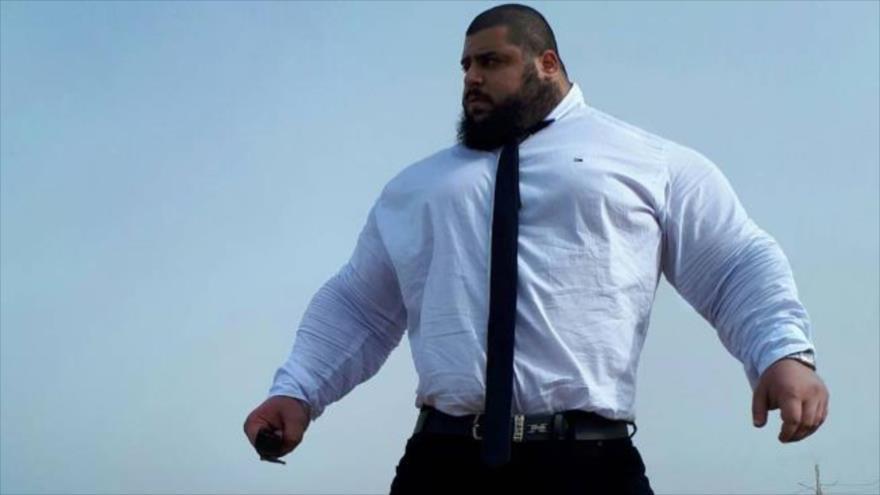 Sayad Qaribi, conocido como el 'Hulk iraní'.