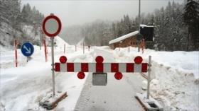 Vídeo: Avalancha deja atrapadas a 2000 personas en sur de Alemania