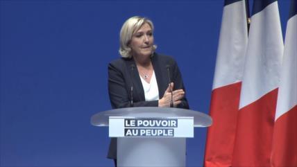Marine Le Pen presenta su lista para Parlamento Europeo