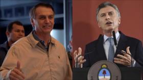 Macri y Bolsonaro, aunados contra Maduro