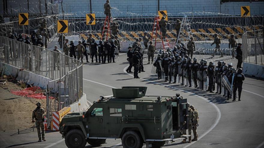 EEUU fortalece la frontera con México con apoyo militar adicional