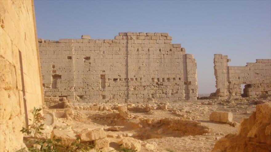 Las ruinas del templo Taposiris Magna, un lugar funerario a casi 30 kilómetros de Alejandría (Egipto).