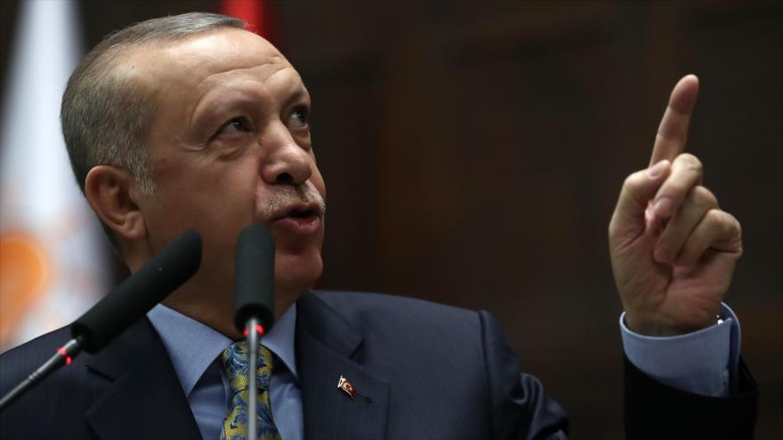 El presidente de Turquía, Recep Tayyip Erdogan, habla ante el Parlamento turco en Ankara, la capital, 15 de enero de 2019. (Foto: AFP)