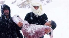 Mueren 15 niños sirios de frío en zonas ocupadas por EEUU
