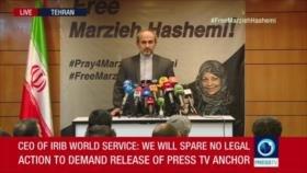 Jefe del Servicio Exterior de Televisión iraní condena arresto de Hashemi en EEUU