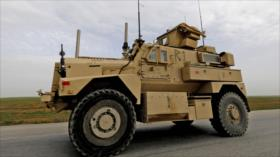 Vehículos blindados de fuerzas de EEUU patrullan noreste de Siria