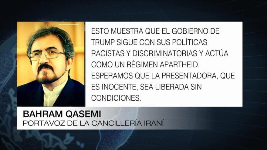 Irán condena detención de la presentadora de Press TV