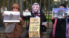 Italianos protestan ante embajada saudí en Roma