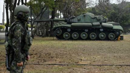Maniobras de Taiwán con fuego real en medio de tensión con China