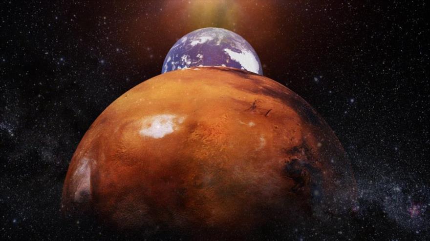 NASAS describe en una animación un viaje de ida y vuelta entre la Tierra a Marte a la velocidad de la luz.