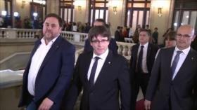Cataluña modificará reglamento para restituir a Puigdemont