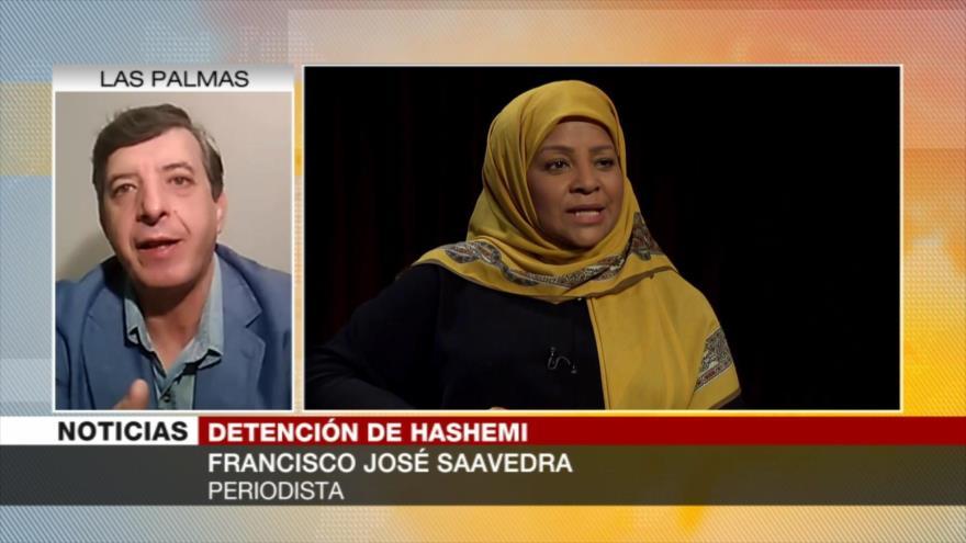 "Saavedra: EEUU se apoya en ""seguridad nacional"" para detener a Hashemi"