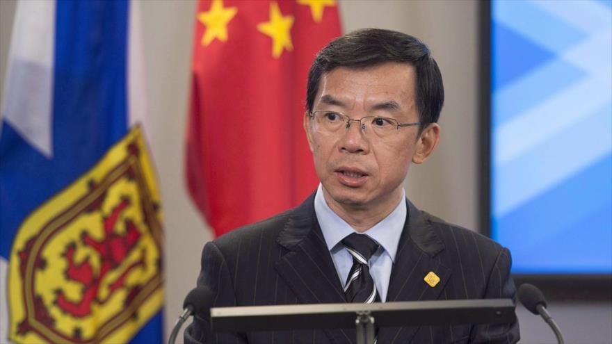 El embajador chino en Canadá, Lu Shaye.