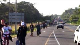 Entra séptima caravana de migrantes a la frontera sur de México