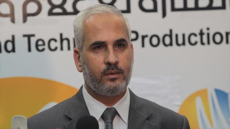 El portavoz del Movimiento de Resistencia Islámica de Palestina (HAMAS), Fawzi Barhum.