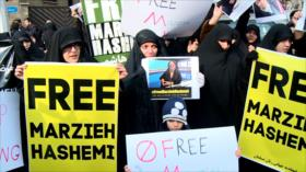 Iraníes protestan para liberación de la presentadora de Press TV