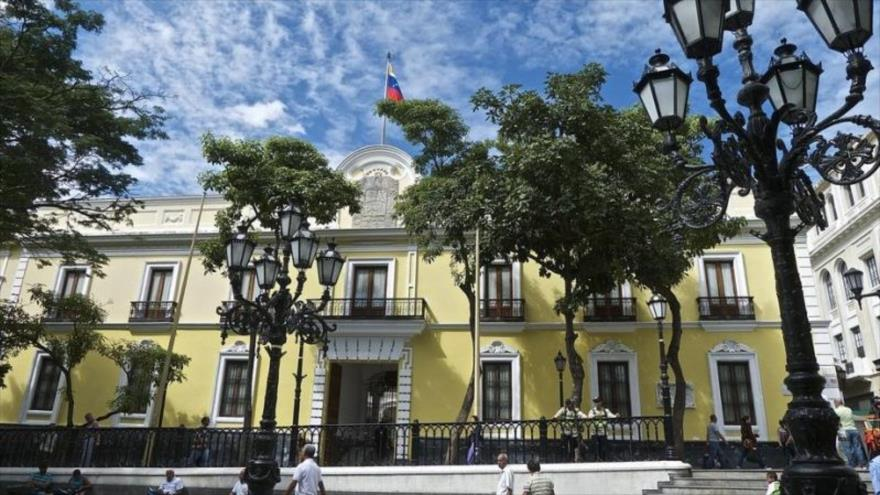 La sede de la Cancillería venezolana en Caracas, la capital.