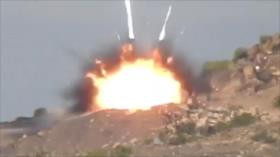 Vídeo: Fuerzas yemeníes atacan a tropas saudíes con misiles