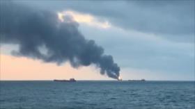 Al menos 11 muertos deja incendio de barcos en estrecho de Kerch