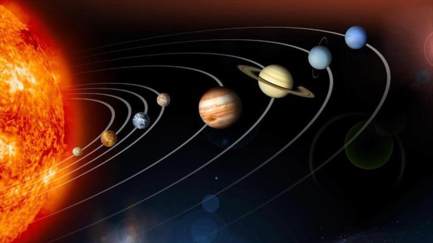 Una imagen de los planetas que giran alrededor del Sol.