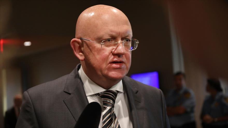 El representante permanente de Rusia ante la Organización de las Naciones Unidas, Vasili Nebenzia, en Nueva York, 6 de septiembre de 2018. (Foto: AFP)