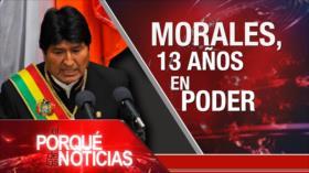 El Porqué de las Noticias: 10 días detenida y sin cargos. Política antinmigrante. 13 años de Evo en la presidencia