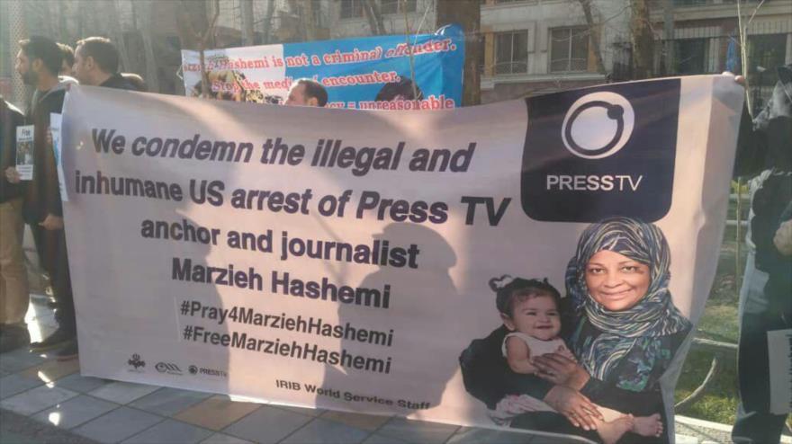 Protestas en Irán exigen liberación de periodista de Press TV