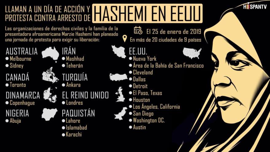 Convocan un día de protesta contra arresto de Hashemi por EEUU