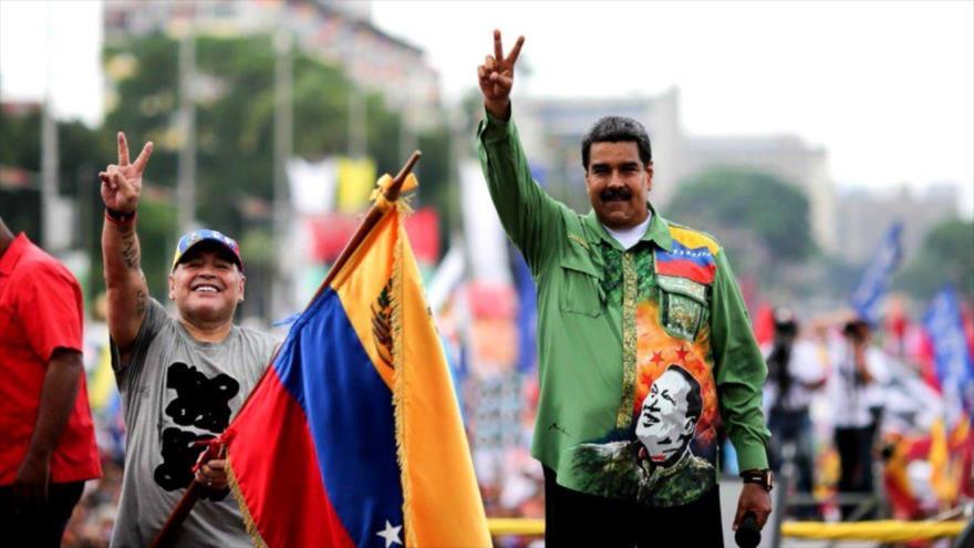 Maradona envía mensaje de apoyo a Maduro y pueblo venezolano | HISPANTV