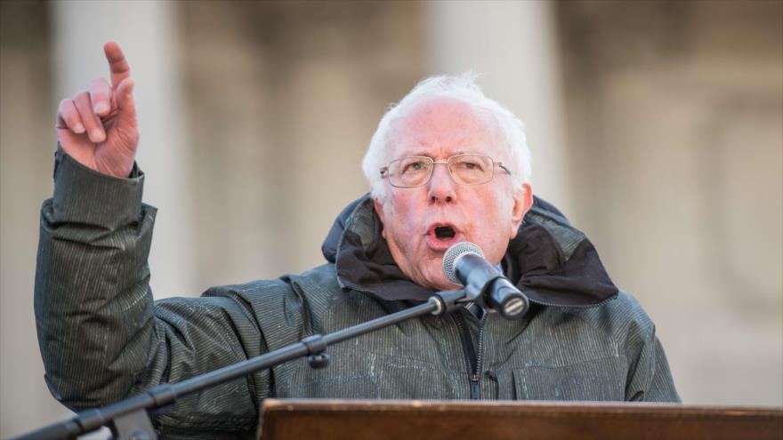 El senador estadounidense, Bernie Sanders, durante un acto en Carolina del Sur (EE.UU.), 21 de enero de 2019. (Foto: AFP)