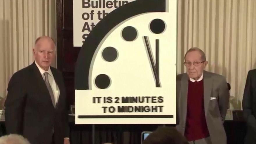 """El Reloj del Apocalipsis está a dos minutos del """"fin del mundo"""""""