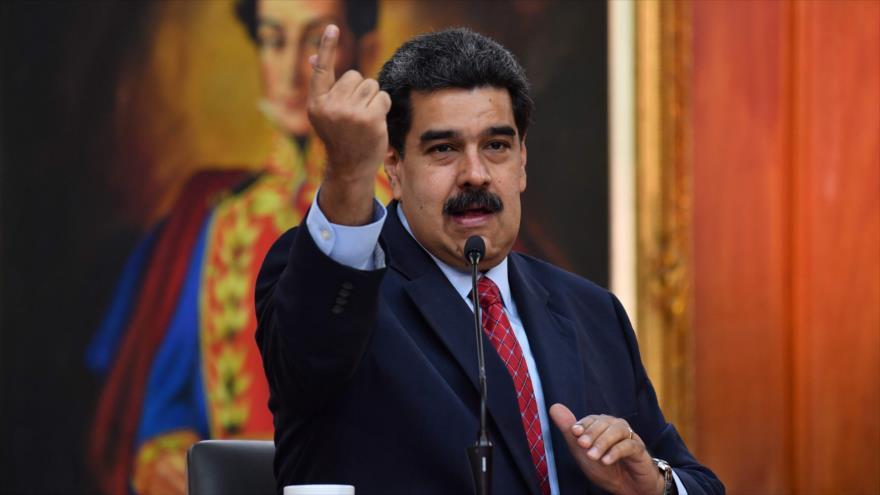 El presidente de Venezuela, Nicolás Maduro, ofrece una rueda de prensa a medios internacionales, 25 de enero de 2019. (Foto: AFP)