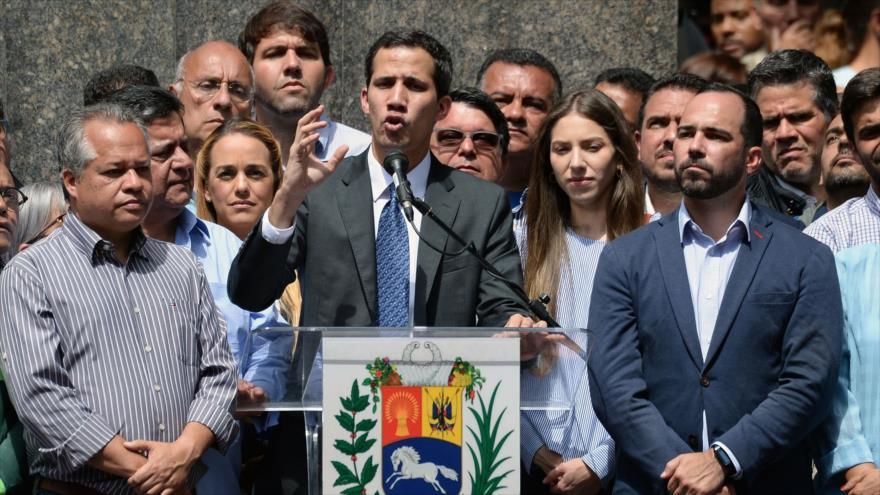 El presidente de la Asamblea Nacional (AN) venezolana —controlada por la oposición—, Juan Guaidó, en Caracas, 25 de enero de 2019. (Foto: AFP)