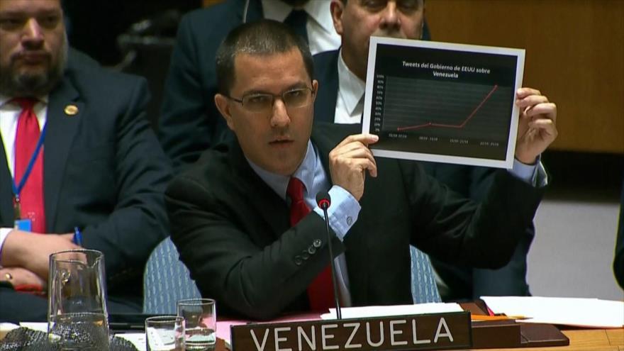 Venezuela denuncia el plan golpista de Estados Unidos