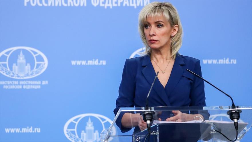 La portavoz del Ministerio de Relaciones Exteriores de Rusia, María Zajarova.