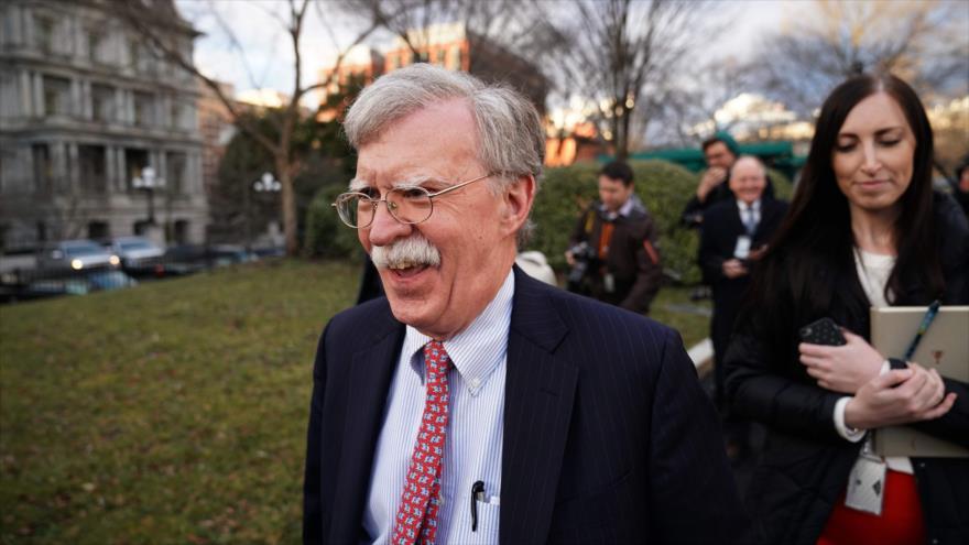 El asesor presidencial de Seguridad Nacional de EE.UU., John Bolton, en la Casa Blanca, 24 de enero de 2019. (Foto: AFP)