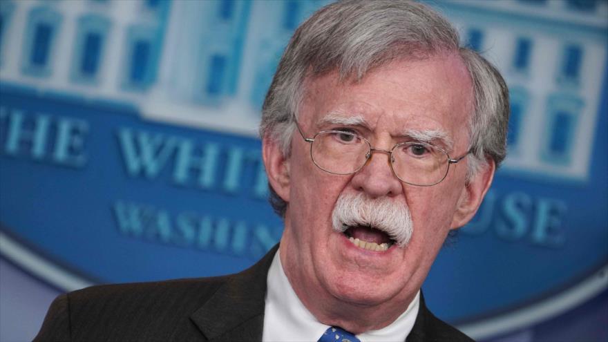El consejero de Seguridad Nacional de EE.UU., John Bolton, en rueda de prensa en Washington, la capital de EE.UU., 28 de enero de 2019. (Fuente: AFP)