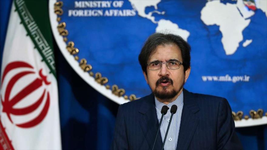 El portavoz de la Cancillería de Irán, Bahram Qasemi, habla en una rueda de prensa en Teherán, la capital, 28 de enero de 2019. (Foto: IRNA)